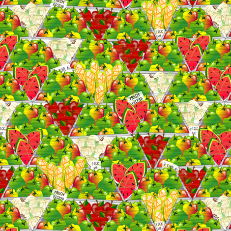 Fresh Picked - tiny fabric by glimmericks on Spoonflower - custom fabric