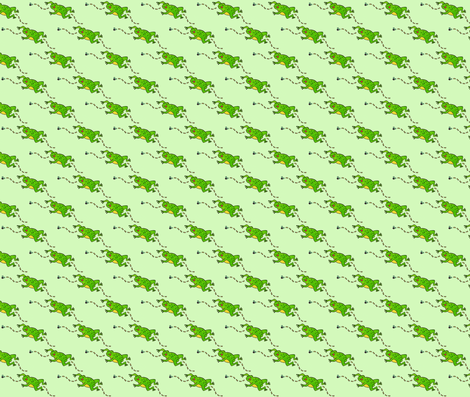 Jumping Frog fabric by lenikae on Spoonflower - custom fabric