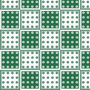 Flower Squares Large - Green