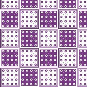 Flower Squares Large - Purple