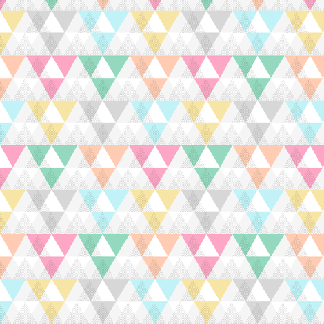 Spring Triangles fabric by demigoutte on Spoonflower - custom fabric