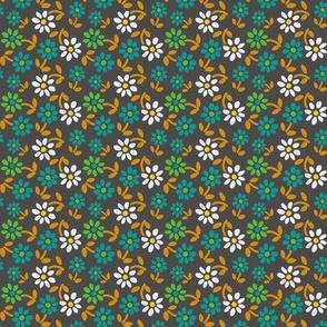 Tiny Flowers - Grey
