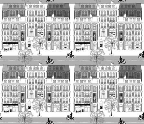 Boulevard Haussmann Grey fabric by vannina on Spoonflower - custom fabric