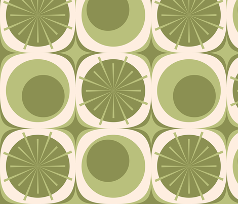 Circles and Bursts: Olivetree fabric by bobbifox on Spoonflower - custom fabric