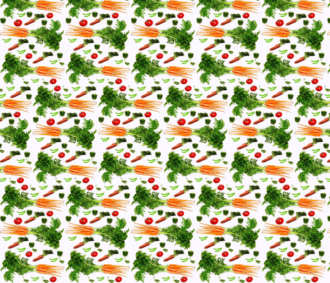 Eat Your Vegetables fabric by vos_designs on Spoonflower - custom fabric