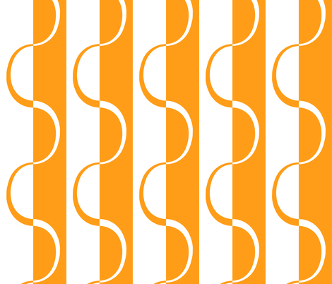 mod_orange_curve_stripe fabric by victorialasher on Spoonflower - custom fabric