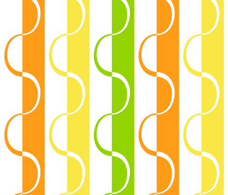 mod_citrus_curve_stripe fabric by victorialasher on Spoonflower - custom fabric