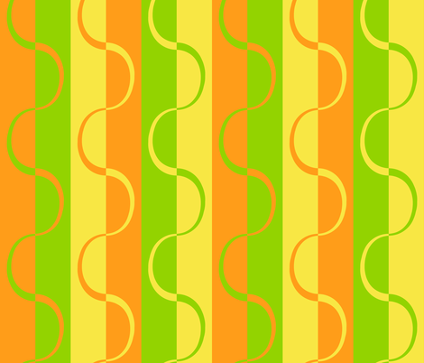 mod_citrus_curve_stripe_no_white fabric by victorialasher on Spoonflower - custom fabric