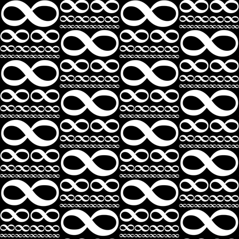infinitiki on black fabric by weavingmajor on Spoonflower - custom fabric