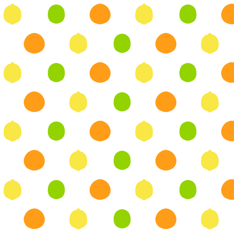 mod_citrus_dot_no_leaves fabric by victorialasher on Spoonflower - custom fabric