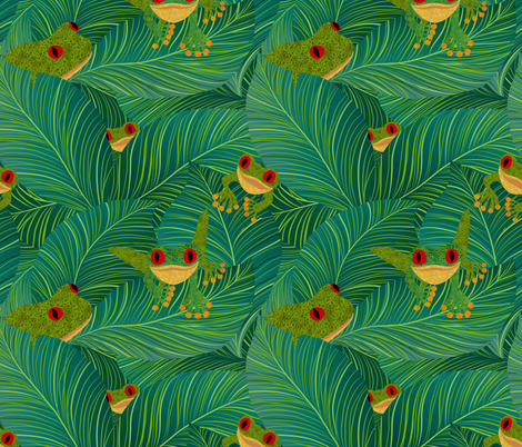 Island Peepers fabric by vo_aka_virginiao on Spoonflower - custom fabric
