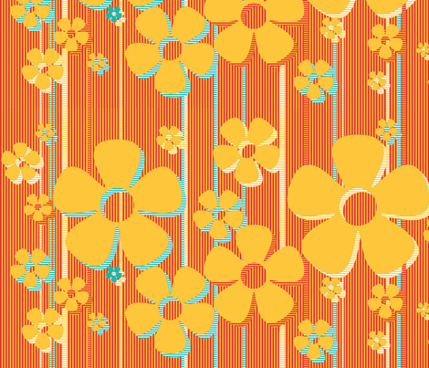 Buttercups - Caramel fabric by wiccked on Spoonflower - custom fabric