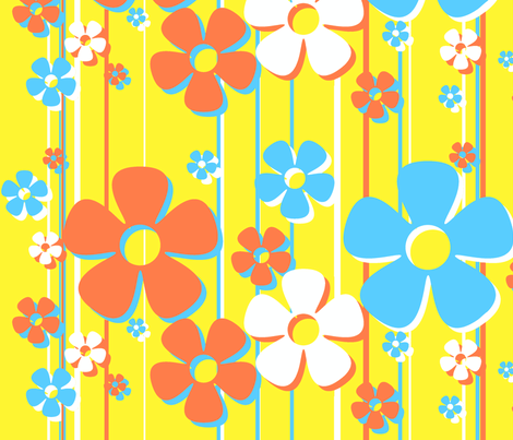 Daisies - lemon tart fabric by wiccked on Spoonflower - custom fabric