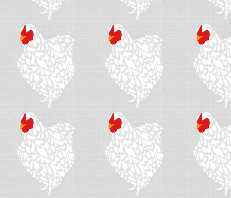 Just the chicken smaller size fabric by melbity on Spoonflower - custom fabric