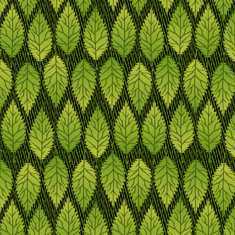 Apple Leaves fabric by glimmericks on Spoonflower - custom fabric