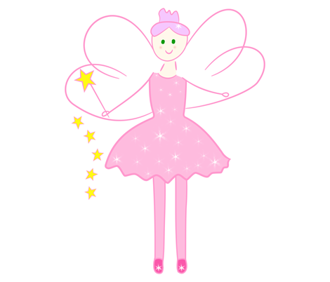 SparklePink Fairy fabric by de-ann_black on Spoonflower - custom fabric