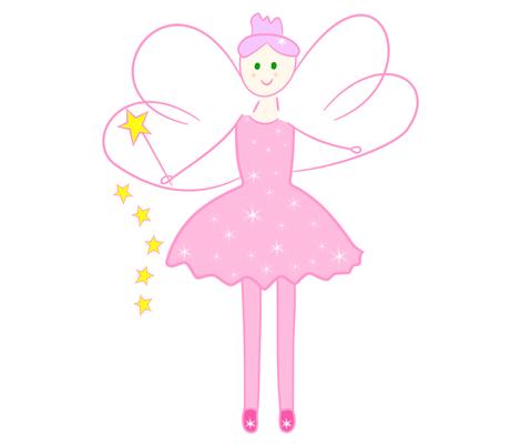 SparklePink Fairy fabric by de-ann_black on Spoonflower - custom fabric