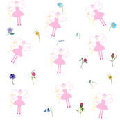 SparklePink Fairy and Flowers