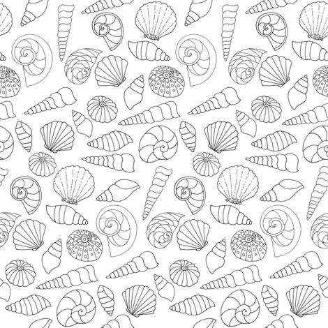 Seashells fabric by de-ann_black on Spoonflower - custom fabric