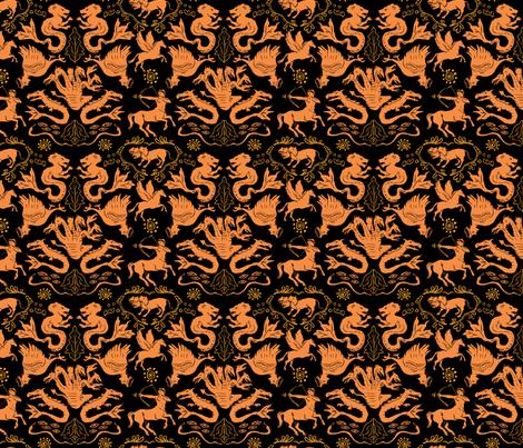 Greek Mythology Creatures fabric by vinpauld on Spoonflower - custom fabric