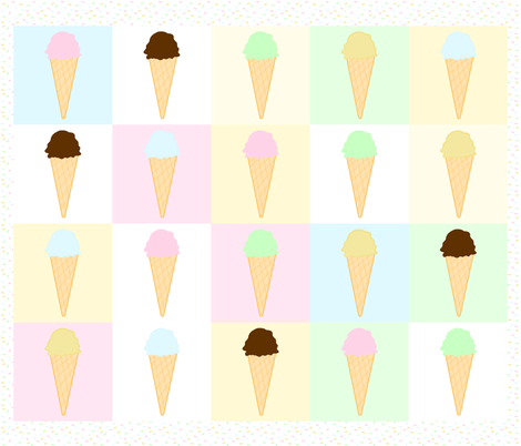 Ice Cream & Sprinkles Quilt fabric by de-ann_black on Spoonflower - custom fabric