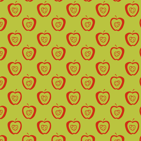 tiny apples GR fabric by glimmericks on Spoonflower - custom fabric