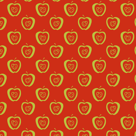 tiny apples RG synergy0002 fabric by glimmericks on Spoonflower - custom fabric