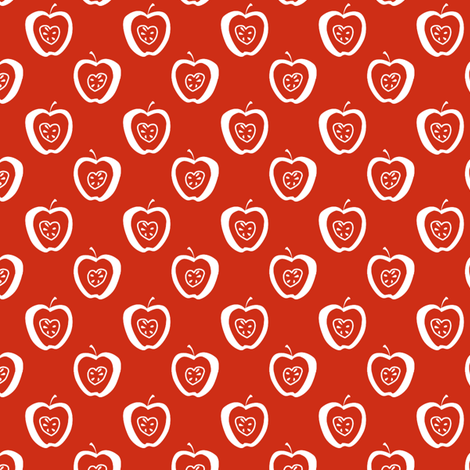 tiny apples RW fabric by glimmericks on Spoonflower - custom fabric