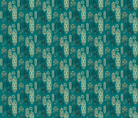 tigertail-tranquil sea fabric by sophista-tiki_by_dawn_frasier on Spoonflower - custom fabric