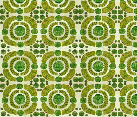 Boxwood Garden - Topiary Collection fabric by gollybard on Spoonflower - custom fabric