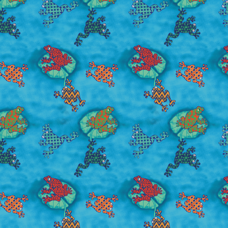 Sapitos (Little frogs) fabric by kirpa on Spoonflower - custom fabric