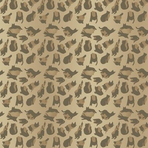 kitty cat leopard animal print - natural