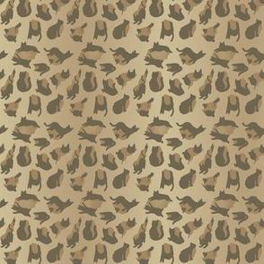kitty cat leopard animal print - natural