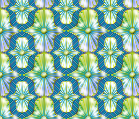 Reflective Medallions fabric by glimmericks on Spoonflower - custom fabric