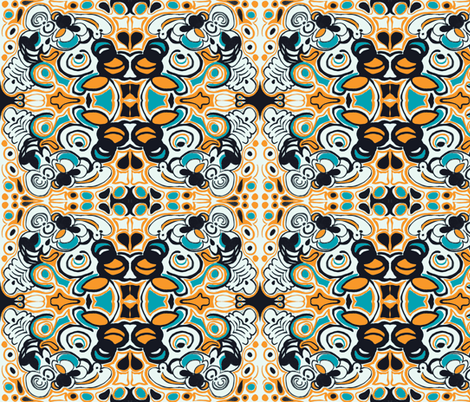 Groovy Orange fabric by teebeedesigns on Spoonflower - custom fabric