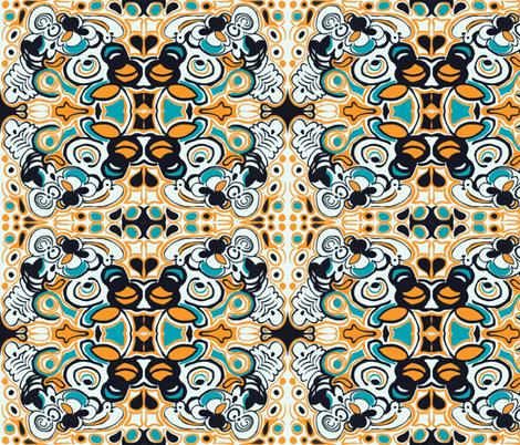 Groovy Orange fabric by teebeedesigns on Spoonflower - custom fabric