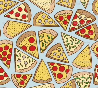 pizza party - blue