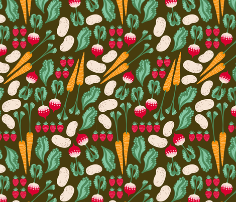 farmers market veggies fabric by kristinnohe on Spoonflower - custom fabric
