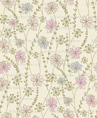 sweet floral_ecru