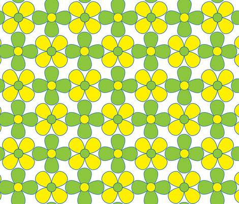 quant floral_green fabric by paintedstudioartdesign@gmail_com on Spoonflower - custom fabric