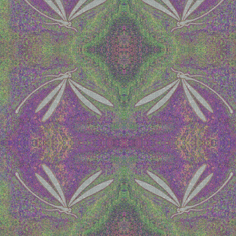 dragonfly jewel - purple, green pink