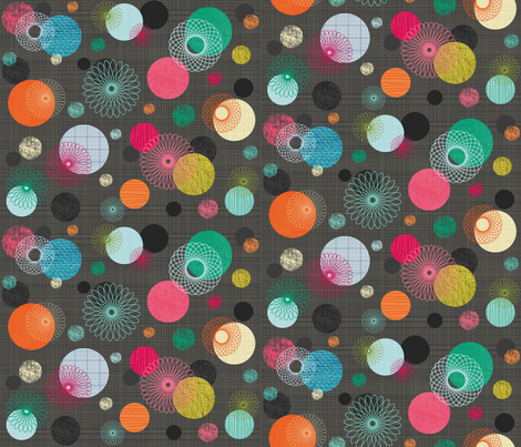chic__spirographs_-_grey fabric by bee_brown on Spoonflower - custom fabric