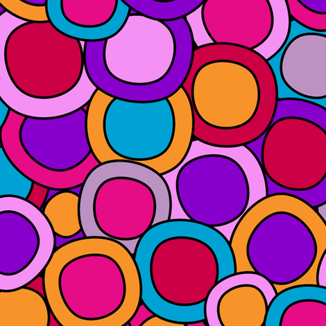 My colourful circles fabric by juliagrifol on Spoonflower - custom fabric