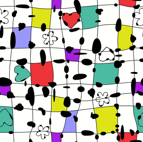 My happy squares fabric by juliagrifol on Spoonflower - custom fabric