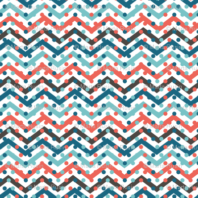 chevron with dots