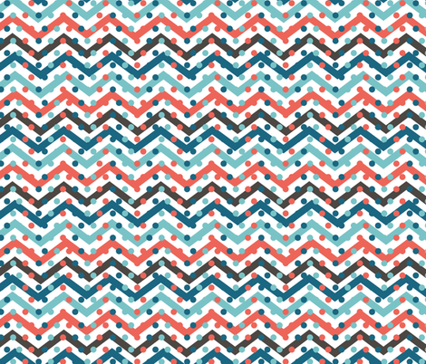 chevron with dots fabric by kociara on Spoonflower - custom fabric