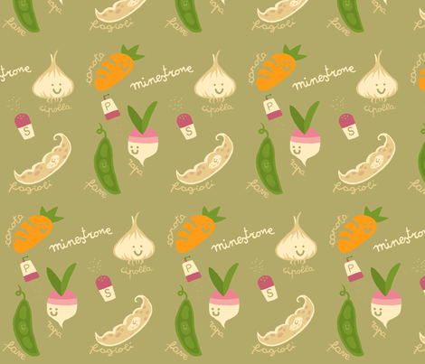 Minestrone with Veggies fabric by fra on Spoonflower - custom fabric