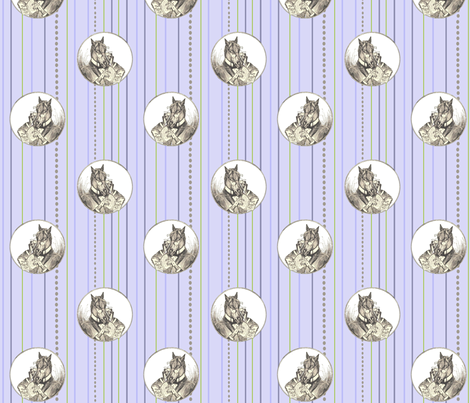 The Literary Horse fabric by ragan on Spoonflower - custom fabric
