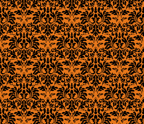 Halloween_Tiger_Damask fabric by kelly_a on Spoonflower - custom fabric