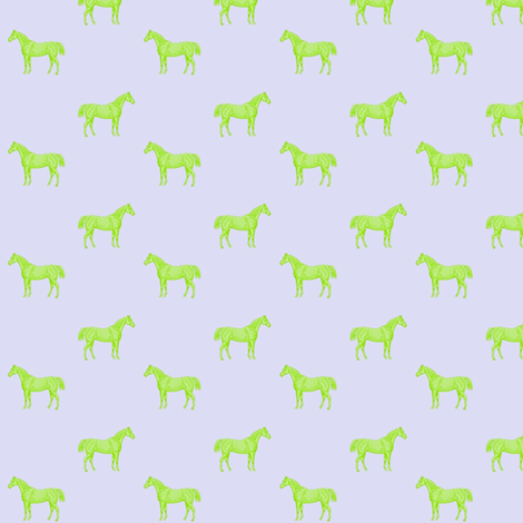 Green Horses fabric by ragan on Spoonflower - custom fabric